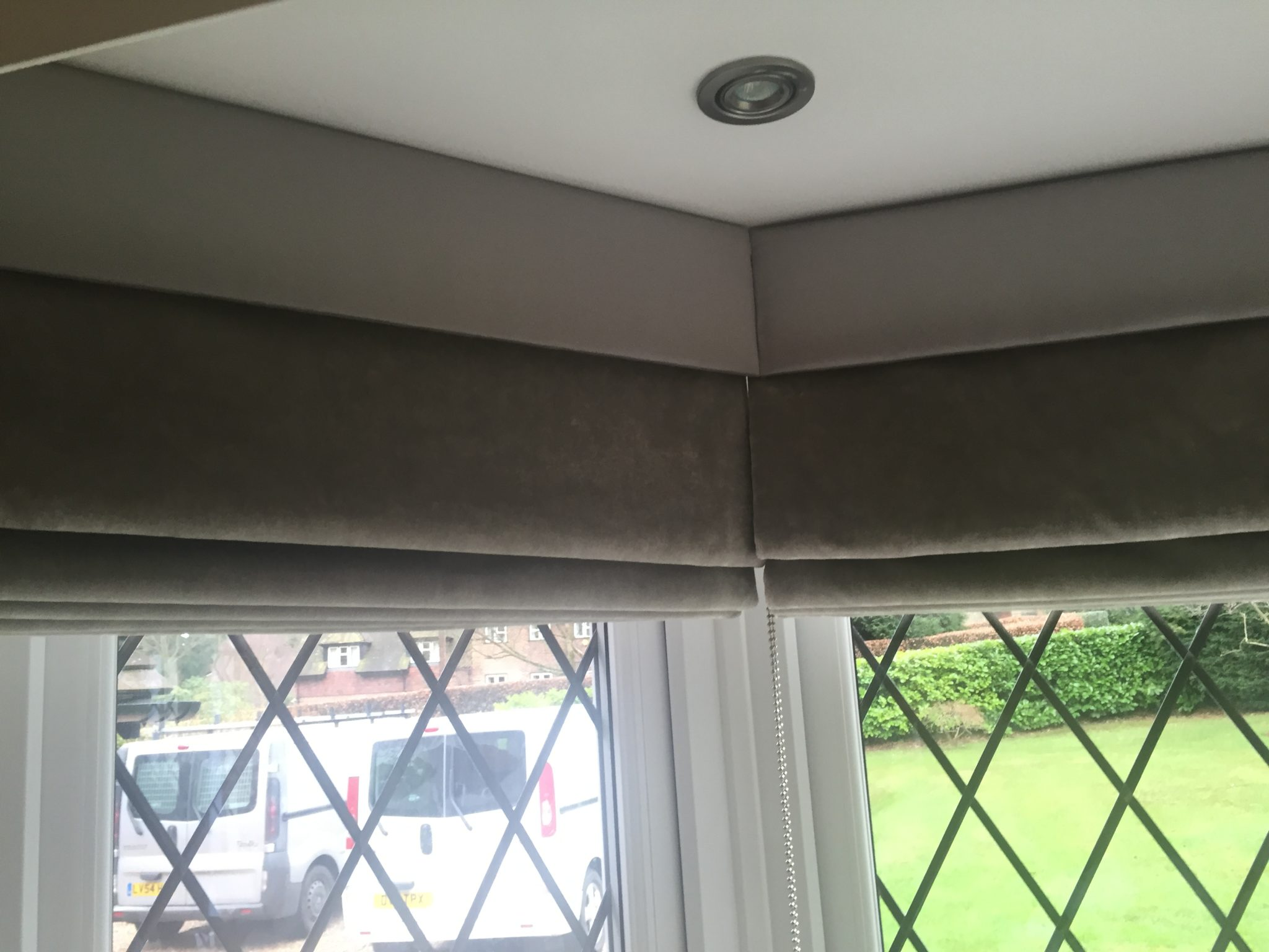 Velvet Roman Blinds With Pelmet